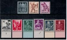 1941 Svizzera Personaggi Storici Serie completa 9 v. nuova Illing. New MNH.