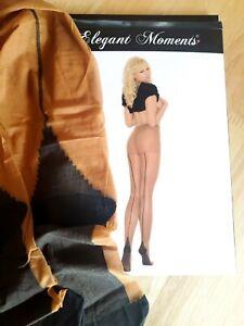 Womens Cuban Heel Pantyhose - Tan/Nude Dark Skin OS Back Seam