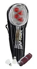 YONEX 4 Player Badminton Combo Set: 4 Racquets, Bag, Net, Poles & Shuttlecocks!