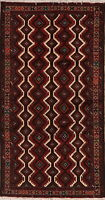 Geometric Balouch Afghan Oriental Area Rug Wool Hand-Knotted Tribal Carpet 4x7