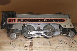 Marx Pre-War Tin Train Lot 7 Pieces UNTESTED