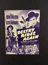 DESTRY RIDES AGAIN Vintage Film Publicity Pressbook Jim Stewart Marlene Dietrich