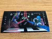 San Marino Space Stamps 2019 MNH Apollo 11 Moon Landing 3v M/S Lenticular