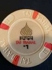 $1 ATLANTIC CITY TRUMP TAJ MAHAL CASINO CHIP POKER