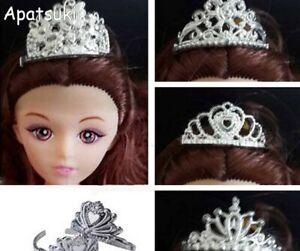 5pcs/lot Plastic Crown Tiara Headwear Hair Accessories For 11.5in Doll 1/6 BJD