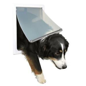 TRIXIE Pet Products 3879 2-Way Locking Dog Door Medium - Extra Large Dogs White
