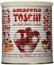 Toschi Amarena Black Cherries in Syrup, 2 LB 3.27 Oz