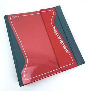 Vintage Mead Trapper Keeper Red Magnetic Closure