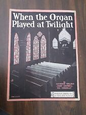 When The Organ Played At Twilight Sheet Music 1930 Santly Bros.