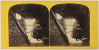 Porta Dei Rochers Monte Righi Suisse Foto Braun Stereo Vintage Albumina c1865