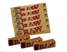 5 RAW CLASSIC Kingsize Slim Rolling Papers & 3 Raw Tips -Authentic UK Stock