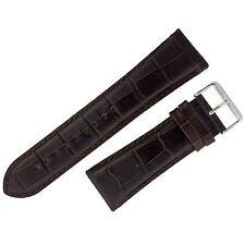 Assorted Watch Strap 28mm Brown Alligator Print Leather ASRTSTRP4