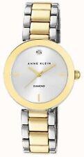 Anne Klein Women Two Tone Bracelet Silver Dial Watch Wrist