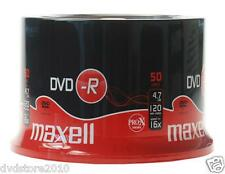 DVD -R Maxell vergini STOCK 4.7GB 120MIN 16X in CAKE 50 + 1cd verbatim 275610