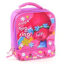 TROLLS PRINCESS POPPY Pink Lead-Free Dual-Chamber Lunch Box Tote Bag NWT
