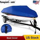 14-16ft Heavy Duty Boat Cover Fits V-hull Fishing Ski Bass Shelter Waterproof