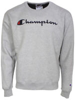 Champion Powerblend Script Logo Sweatshirt Men's Long Sleeve Crew Neck Shirt