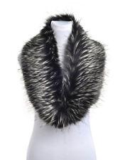 Ladies Women Fluffy Winter Faux Fur Christmas Teal Collar Scarf Shawl Wrap Stole
