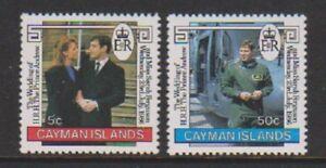 Cayman Islands - 1986, Royal Wedding set - MNH - SG 433/4
