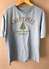 Men's FADED GLORY Save Trees Eliminate My Wife's Checkbook T-shirt Blue - M