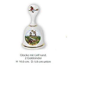Handglocke- Campana de Mesa de Porcelana, Saludo De El Resina
