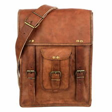 New Bag Leather Vintage Messenger Shoulder Men Satchel S Laptop School Briefcase