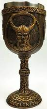 Loki Chalice Goblet 6 1/2 inches tall Wicca Wiccan Supplies Free Shipping