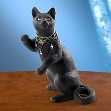 Lenox Night Gazer Black Cat with Jeweled Collar Figurine New In Box