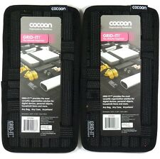 "Lot of (2) COCOON CPG5BK 5.125"" x 10"" Grid-It Organizer (Black) for phone,Pen"