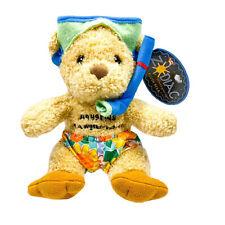 Enesco Aquarius Zodiac Teddy Bear Riding My Own Wave Scuba Driver Stuffed Animal