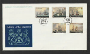 Guernsey 1986 : Admiral Lord de Saumarez - First Day Cover.