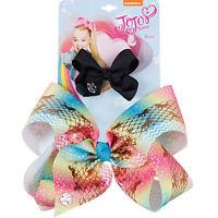 2pcs/card JoJo siwa Mermaid Printed Hair Bow With Clip Grosgrain Ribbon Bowknot