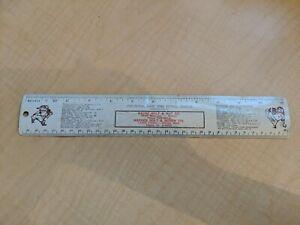 1966 Detroit Tigers Home Baseball Schedule Metal Ruler