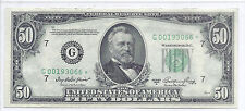 1950A US Federal Reserve Note $50, Low Serial # - Star Note, AU/UNC Details*