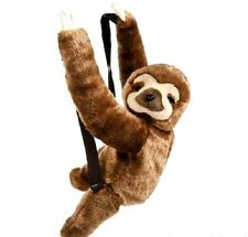 """Plush Sloth Back Pack 20"""" Toy With Zipper, Adjustable Straps New Stuffed Animal"""