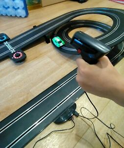 Scalextric Slot Car Set, Race Track With Two Cars, P/U Melbourne