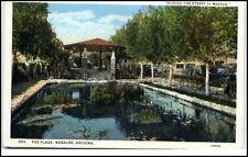 Nogales Arizona usa Postcard ~ 1930 the plaza across the street is méxico unused