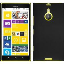 Funda Rígida Nokia Lumia 1520 - goma negro + protector de pantalla