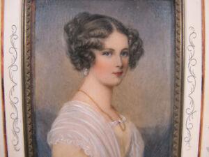 Antique c 1830 Portrait Miniature Countess Szechenyi-Sellern Signd Daffinger yqz
