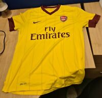 Arsenal FC Away Football Shirt 2010-11 Size M Excellent Condition