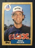 NEIL ALLEN 1987 TOPPS AUTOGRAPHED SIGNED AUTO BASEBALL CARD 113 WHITE SOX