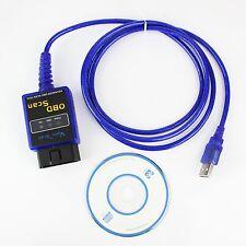 Blue ELM327  V1.5 OBD2 OBD-II Car Auto Diagnostic Scanner Tools USB Scanner Scan