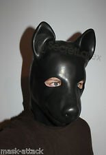 LATEX RUBBER BLACK GUM FETISH DOG FULL HEAD HOOD PUPPY DOLL MAN MEN ANIMAL MASK
