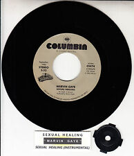 "MARVIN GAYE  Sexual Healing 7"" 45 rpm vinyl record + juke box title strip NEW"