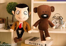 "New Funny 11"" Movie Mr Bean + Teddy Bear Soft Doll Stuffed Animal Kids Plush Toy"