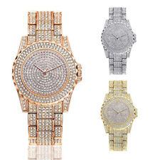 New Glittering Women Ladies Diamond Crystal Quartz Analog Wristwatch