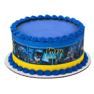 Batman Superhero Comic Strip Edible Cake Border Decoration - Set of 3 Strips