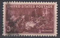 USA Briefmarke gestempelt 3c The Doctor / 3968