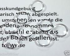 Glas Cabochons 14mm ,Flach Rund leicht Gewölbt ,10 Stück