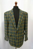 Men's Vtg Tartan Harris Tweed Jacket Blazer 44R Dry Cleaned